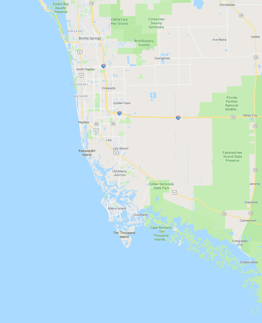 Location Map Southwest Florida | Platinum Dry Cleaners