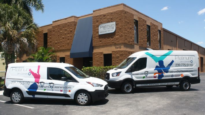 Pick Up Delivery Van Naples Florida | Platinum Dry Cleaners